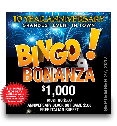 Bingo Bonanza – September 27th
