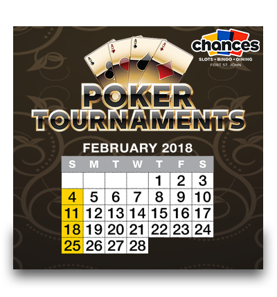 Poker Tournaments – 2018 Calendar