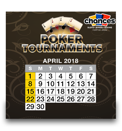 Poker Tournaments – 2018 Calendar