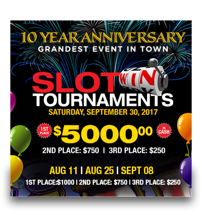 10 Year Anniversary – Slots Tournaments!