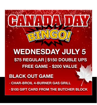 Canada Day Bingo