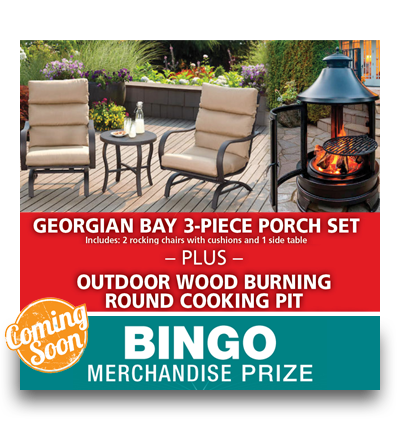BINGO MERCHANDISE PRIZE – Patio Set