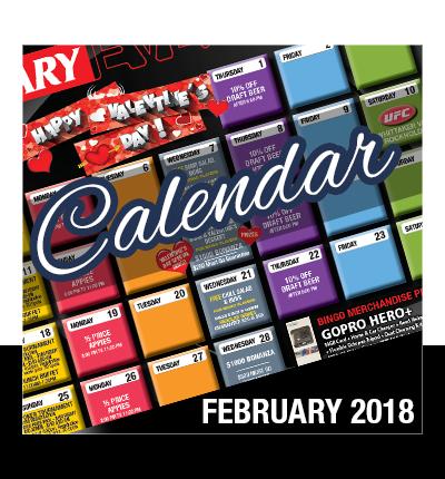 February Calendar Of Events 2018
