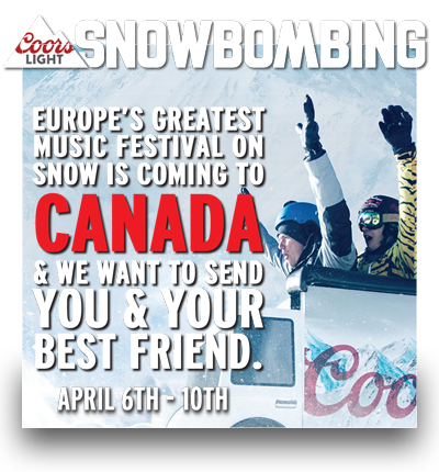 Win a TRIP to Coors Light Snowbombing