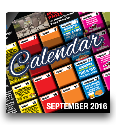Chances September Calendar of Events