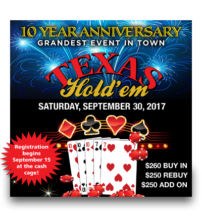 Texas Hold'em – September 30th