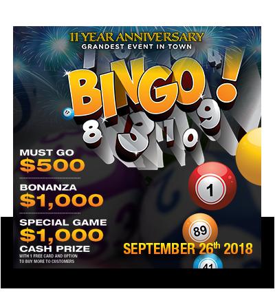 Bingo-Sept 26