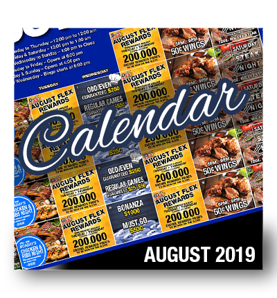 Calendar of Events August 2019