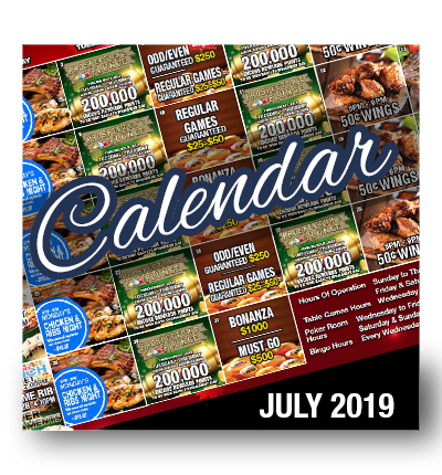Calendar of Events July 2019
