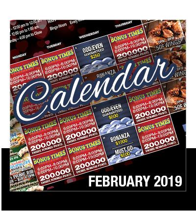 February 2019 Event Calendar