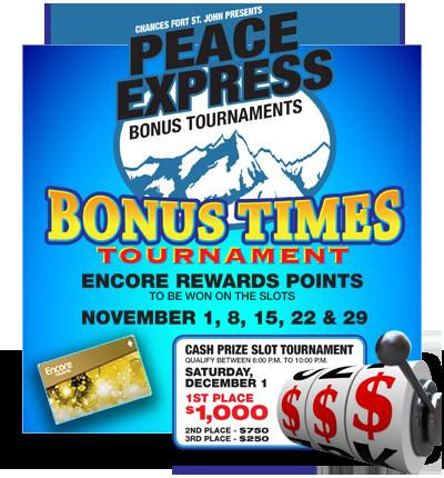 Peace Express Bonus Tournaments