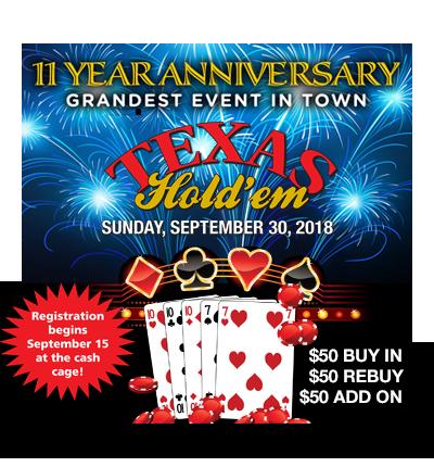 Texas Hold'em – September 30th